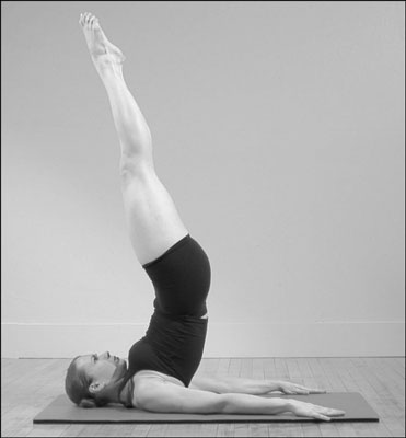 The Levitation position in Pilates.