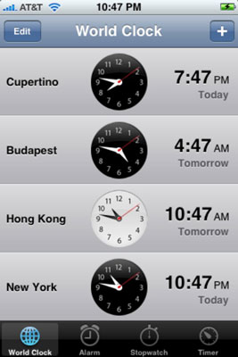 Check out the time in Budapest.