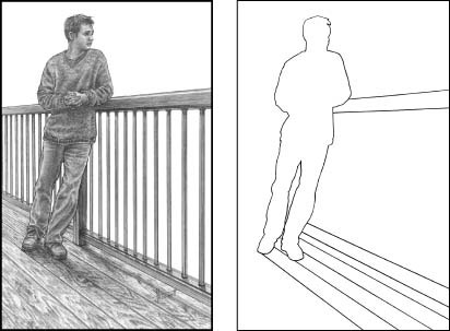 Room Outline Drawing Figure 3 Tracing The Outlines