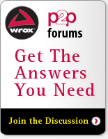 Wrox P2P Forums -- Get the Answers You Need