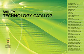 The Wiley Technology Catalog: Winter 2010