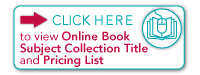 view Online Book Subject Collection Title and Pricing List