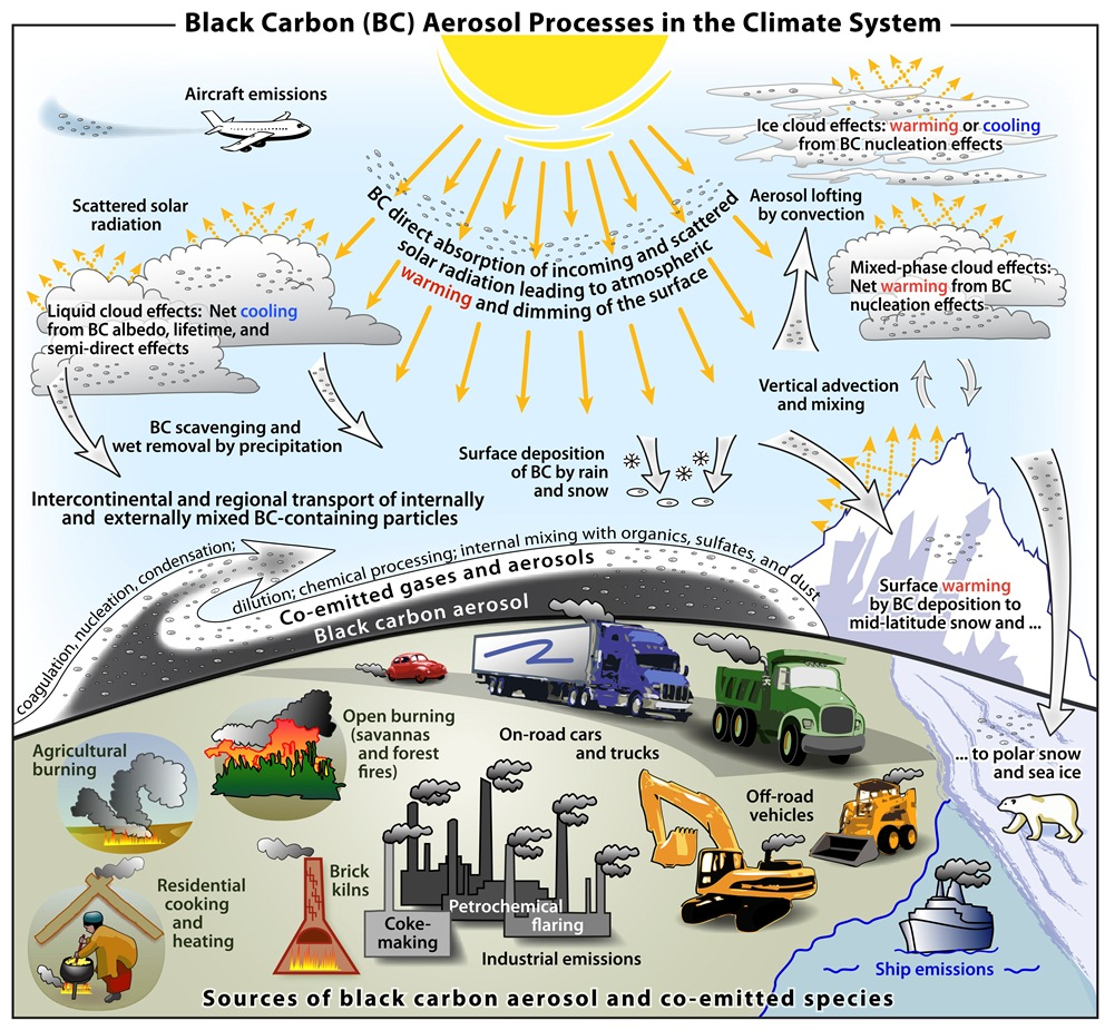 Black Carbon (BC) Aerosol Processes in the Climate System