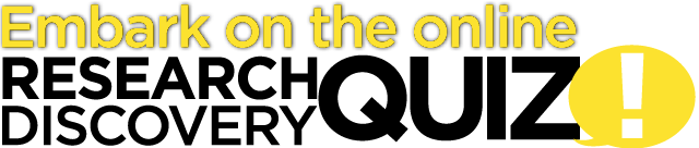 Embark on the online Research Discovery Quiz 2013