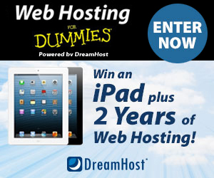 Win an iPad plus 2 Years of Web Hosting! Enter Now.