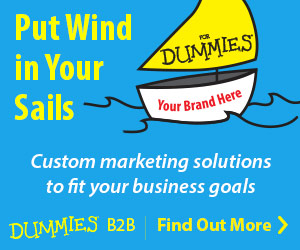 Dummies B2B -- Custom marketing solutions to fit your business goals. Find out more.