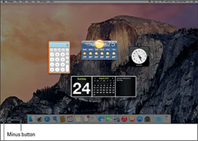 How to Place Widgets on the OS X Yosemite Dashboard