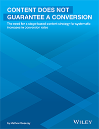 Content Does Not Guarantee a Conversion White Paper
