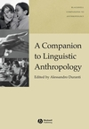 A Companion to Linguistic Anthropology (1405144300) cover image
