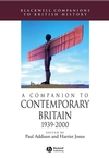 A Companion to Contemporary Britain 1939 - 2000 (1405167300) cover image