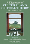 A Dictionary of Cultural and Critical Theory, 2nd Edition (1405168900) cover image