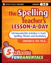 The Spelling Teacher's Lesson-a-Day: 180 Reproducible Activities to Teach Spelling, Phonics, and Vocabulary (0470429801) cover image