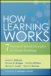 How Learning Works: Seven Research-Based Principles for Smart Teaching (0470484101) cover image