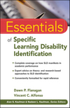 Essentials of Specific Learning Disability Identification (0470587601) cover image