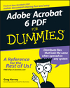 Adobe Acrobat 6 PDF For Dummies (0764537601) cover image