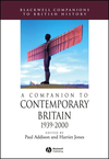 A Companion to Contemporary Britain 1939 - 2000 (0631220402) cover image