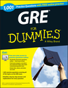 1,001 GRE Practice Questions For Dummies (+ Free Online Practice) (1118825802) cover image