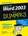 Word 2003 For Dummies (1118053303) cover image