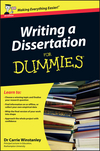 Writing a Dissertation For Dummies, UK Edition (0470742704) cover image