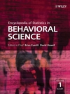 Encyclopedia of Statistics in Behavioral Science (0470860804) cover image