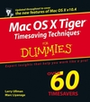 Mac OS X Tiger Timesaving Techniques For Dummies (0764599704) cover image