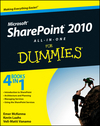 SharePoint 2010 All-in-One For Dummies (0470946105) cover image