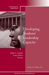 Developing Students' Leadership Capacity: New Directions for Student Services, Number 140 (1118540905) cover image