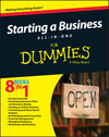 Starting a Business All-In-One For Dummies (1119049105) cover image