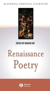 Renaissance Poetry (0631230106) cover image