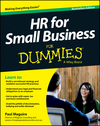 HR For Small Business For Dummies - Australia, Australian Edition (1118640306) cover image