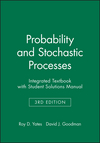 Probability and Stochastic Processes, 3e Integrated Textbook with Student Solutions Manual (1118976606) cover image