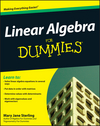 Linear Algebra For Dummies (0470430907) cover image