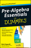 Pre-Algebra Essentials For Dummies (0470640707) cover image