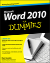 Word 2010 For Dummies (0470770007) cover image