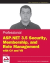 Professional ASP.NET 3.5 Security, Membership, and Role Management with C# and VB (0470379308) cover image
