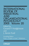 International Review of Industrial and Organizational Psychology, Volume 20, 2005  (0470867108) cover image