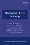 Measurement Errors in Surveys (0471692808) cover image