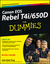 Canon EOS Rebel T4i/650D For Dummies (1118461908) cover image