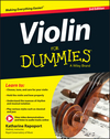 Violin For Dummies, Book + Online Video & Audio Instruction, 3rd Edition (1119022908) cover image