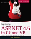 Beginning ASP.NET 4.5: in C# and VB (1118311809) cover image
