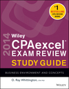 Wiley CPAexcel Exam Review 2014 Study Guide, Business Environment and Concepts (1118734009) cover image