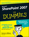 Microsoft SharePoint 2007 For Dummies (0470099410) cover image