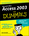 Access 2003 For Dummies (0764538810) cover image