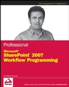 Professional Microsoft SharePoint 2007 Workflow Programming (0470402512) cover image