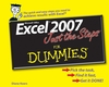 Excel 2007 Just the Steps For Dummies (0470039213) cover image