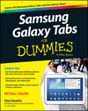 Samsung Galaxy Tabs For Dummies (1118773713) cover image