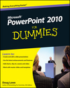 PowerPoint 2010 For Dummies (0470622814) cover image