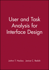 User and Task Analysis for Interface Design (0471178314) cover image