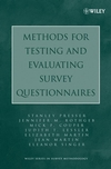 Methods for Testing and Evaluating Survey Questionnaires (0471458414) cover image