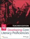 Developing Core Literacy Proficiencies, Grade 10, Teacher Edition (1119192714) cover image